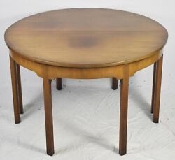 Kittinger Colonial Williamsburg Mahogany Dining Table Pair Demilune Tables CW 34 $1299.00