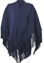 NWT BURBERRY PRORSUM RUNWAY PURPLE FRINGED FELTED WOOL BLENDED PONCHO GORGEOUS