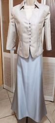 JS Collections Light Blue Jacket and Long Skirt Dress SIZE 4 $29.99