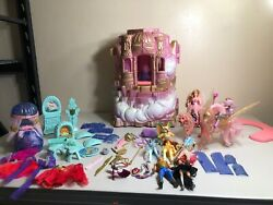 vintage SHE-RA princess of power CRYSTAL CASTLE PLAYSET w figures PLEASE READ
