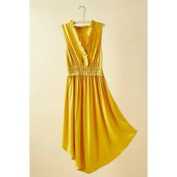 NEW Anthropologie La Habana Dress by Maeve - Summer Mango Yellow Size S Small $69.99