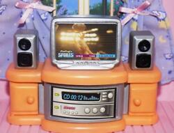 Dollhouse kids bedroom sports television center fits Fisher Price Loving Family $8.99