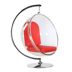 Fine Mod Imports Bubble Hanging Chair Red FMI1122-RED