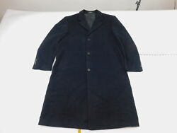 Mens Calvin Klein 44R Regular  Button Down Coat  Solid Black