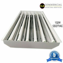 T8 LED High Bay Warehouse Shop Commercial Light 6 Lamp Fixture USA MADE Bright $7,440.00
