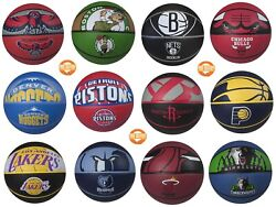 Spalding Basketball NBA Team Official Sized Balls Courtside Outdoor Rubber 29.5quot; $19.89
