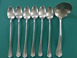 Vintage R.C.Co. Rogers Cutlery 6 Ice Tea Spoons & Ladle -1923 Manchester Pattern