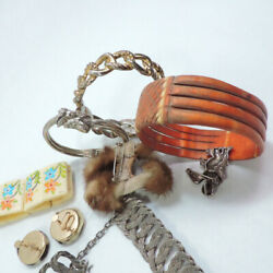 Vintage Old Jewelry Lot Fur Unique Sterling Wearable Sell-able