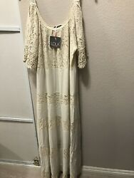 Brand New Lola Lace Long Dress Made In Italy Size L $59.99