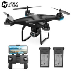 2K HD Camera Holy Stone HS120D FPV Drone GPS RC Selfie Quadcopter with 2 battery $89.99