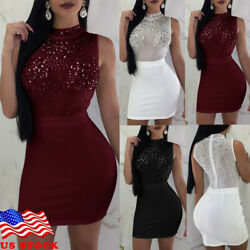 Sexy-Women-Sequin-Bandage-Bodycon-Bling Evening-Party-Cocktail-Clubi-Dress-Club