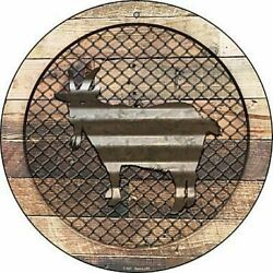 Goat Fence Fencing 12quot; Round Aluminum Metal Sign Rustic Home Farm Wall Decor $14.98