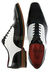 Handmade Men#x27;s Leather New Formal Luxury Fashion Black amp; White Dress Shoes 475
