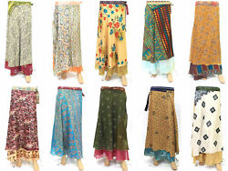 200 Pcs Vintage 2 Layer Silk Magic Wrap Around Skirts Dress Beach Wear Sarong