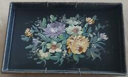Antique Tole Painted Decorative Tray BEAUTIFUL TRAY VERY OLD COLORFUL TRAY $34.99