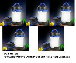 LOT OF 5 Portable Camping Tent Lantern LED Hiking Night Light Lamp Collapsible $24.95