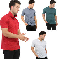 Mens Lightweight Pique Polo T Shirts Slim Fit Casual Summer Short Sleeve Top New $6.22