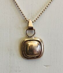 Sterling Silver Pendant with Chain Marked Mexico 925 Estate Jewelry 1980's