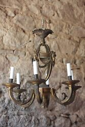 Beautiful Condition Original French Antique Rococo Cast Bronze Chandelier