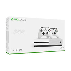 Xbox One S 1TB Console with 2 Controllers Bundle - Open Box [Factory Refurbished