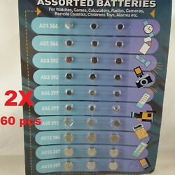 60 PCS Super Cell Alkaline for Watch Calculator RC Games Coin Button Batteries $5.99