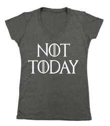 Not Today God of Death Funny Novelty Women#x27;s junior fit Women#x27;s V Neck $8.95