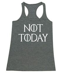 Not Today God of Death Funny Novelty Women#x27;s junior fit Racerback Tank Top $8.95
