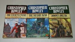 Christopher Rowley lot of 3 fantasy paperbacks the complete Arna trilogy