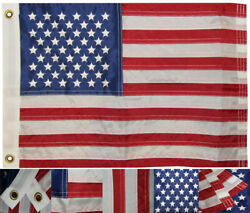 12x18 USA 50 Star 12quot;x18quot; 210D Nylon Embroidered Grommets Boat Flag Strong $9.88