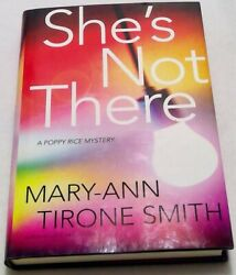 Book hardcover she's not there Mary Ann smith poppy rice mystery