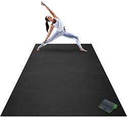 Premium Extra Large Yoga Mat - 9' x 6' x 8mm Extra Thick Comfortable Non-Toxi