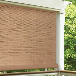 Cordless Roll Up Blind Sun Shade Outdoor Patio Deck UV Protection Window Privacy $51.99