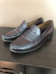 Sebago Classic Men's Slip On Dress Penny Loafers Burgundy Leather Shoes 11