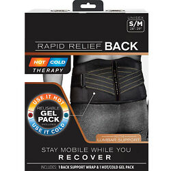 Copper Fit Rapid Relief Back Support Brace With HotCold Therapy
