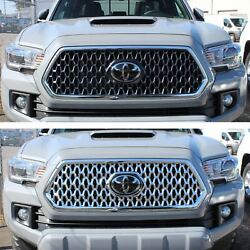 Black Horse 2018-2019 Toyota Tacoma Overlay Grille Trims Chrome