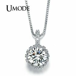 UMODE Multi Prongs Synthetic Cubic Zirconia Necklaces Heart and Arrows CZ Pen…