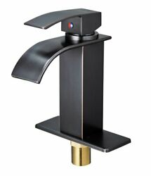 Oil Rubbed Bronze Bathroom Basin Faucet Sink Mixer Tap With Cover Plate