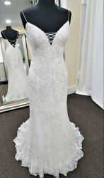 Willowby by Watters 59110 size 14 ivory low back wedding dress beach gown $1695