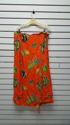 Sea Shell Fish Print Wrap Skirt Womens ClothingHippieBoho  -MULTICLWRPSK $14.99