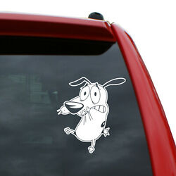 Courage the Cowardly Dog Vinyl Decal  Color: White  5