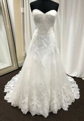 WTOO by Watters 16719 Angeline size 6 ivory lace tulle A-Line Wedding gown dress $875.00