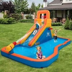 Inflatable Splash Pool Water Park Bounce House Jump Slide Bouncer Playground NEW