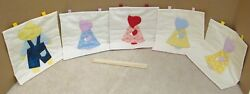Lot of 5 wall hangings home decor Sun Bonnet Sew Farmer Jim antique styles $25.00