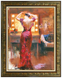 Pino Daeni Original Hand Embellished Giclee On Canvas The Star Signed Portrait