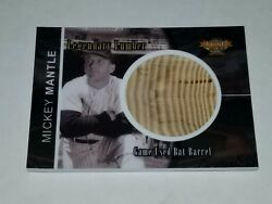 2015 TCSP Mickey Mantle Game Used Bat Card 50