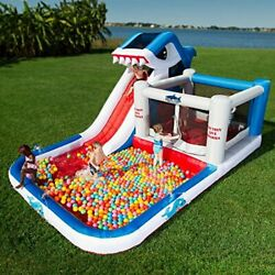 BIG Inflatable Splash Pool Water Park Bounce House Jump Slide Bouncer Playground