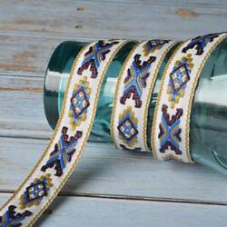 2Yds Embroidered Trims Fringe Ribbon Lace Edged Boho DIY Sewing Germent Crafts $2.39