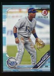 WANDER FRANCO 2019 Bowman Draft Paper SKY BLUE Parallel # 499 Rookie Card RC $44.99