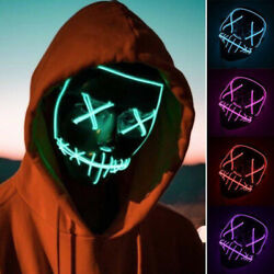 LED Light Mask Up Funny Masks The Purge ElectionGreat for Cosplay Halloween New