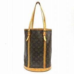 Louis Vuitton Monogram Bucket GM Women's Shoulder Bag Monogram
